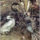 Arthur Rackham Alice In Wonderland I Fine Art Print 32x24