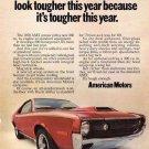 Vintage American Motors Amx Car Ad Art Print 32x24