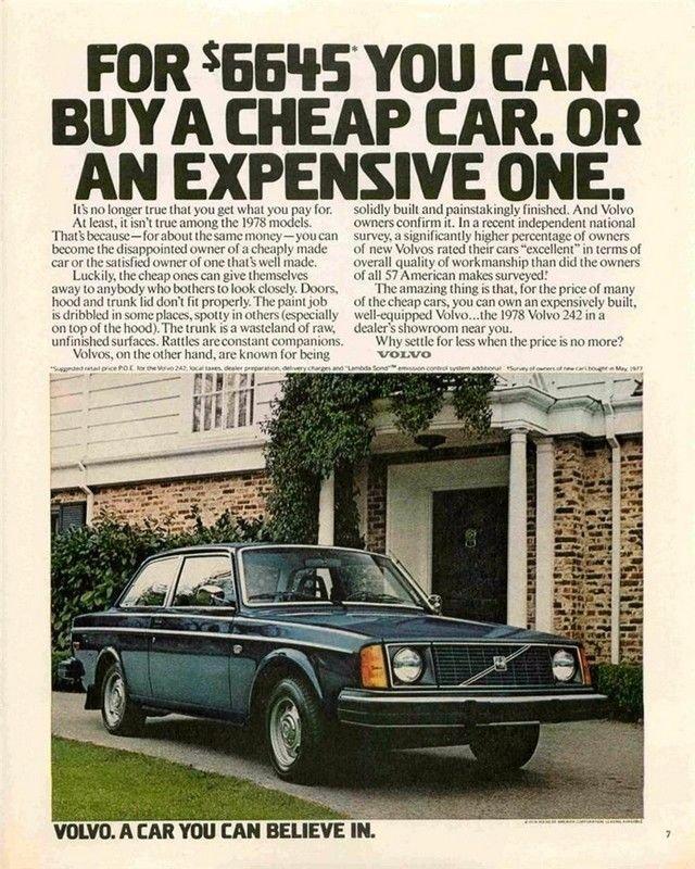 Vintage Volvo Car Ad Art Print 32x24