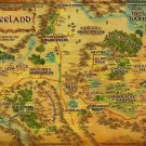 Map Of Middle Earth The Lord Of The Rings Map Wall Print POSTER Decor 32x24