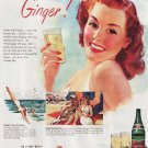 Vintage Canada Dry Giner Ale Ad Art Print 32x24