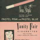 Vintage Vanity Fair Cigarette Smoking Ad Art Print 32x24