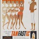 Vintage Tanfastic Suntan Lotion Ad Art Print 32x24