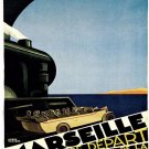 Marseille Vintage French Travel Poster Print 32x24
