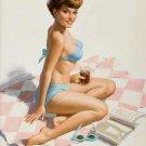 Arthur Sarnoff PIN UP Girl Art Print 32x24
