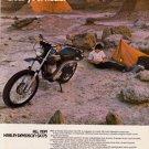 Vintage Harley Davidson Sx 175 Motorcycle Ad Art Print 32x24