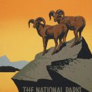 Vintage Perserve Wild Life Parks Wpa Poster Art Print 32x24