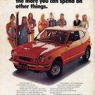 Vintage Honda Coupe Car Ad Art Print 32x24