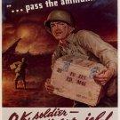Wwii Pass The Ammunition War Propoganda Poster Art Print 32x24