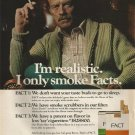 Vintage Fact Cigarette Smoking Ad Art Print 32x24