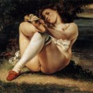 Gustave Courbet Woman With White Stockings Fine Art Print 32x24