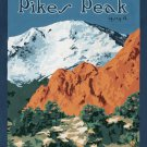 Vintage Pikes Peak Forest Wpa Poster Art Print 32x24