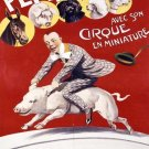 Vintage French Circus Poster Print 32x24