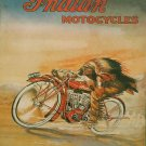 Vintage Indian Motorcycle Ad Art Print 32x24