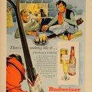 Vintage Budweiser Ski Ad Art Print 32x24