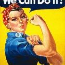 Wwii We Can Do It War Propoganda Poster Art Print 32x24