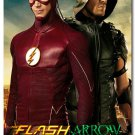 The Flash And Arrow TV Series Art Wall Poster 32x24