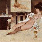 Fritz Willis PIN UP Girl Art Print 32x24