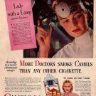 Vintage Camels Doctors Cigarette Smoking Ad Art Print 32x24