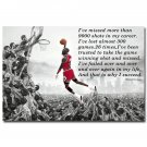 Why I Succeed Michael Jordan Dunk Motivational Quote Art Poster 32x24