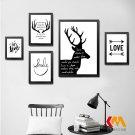 Motivational Quote Black White Minimalist Canvas Poster Pere Davids Deer 32x24
