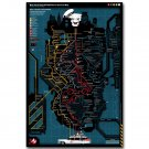 New York City Ghostbusters Service Map Movie Poster 32x24