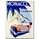 Vintage 1952 Monaco Grand Prix Classic Motor Racing Poster 32x24