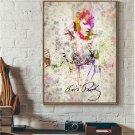 The Hillbilly Cat Elvis Presley Art Canvas Poster Minimalism Wall Decor 32x24