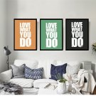 DO WHAT YOU LOVE Motivational Quote Minimalist Art Canvas Poster Picture 32x24