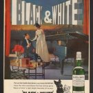 Vintage Black And White Scotch Ad Art Print 32x24