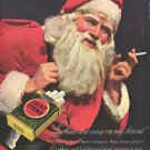 Vintage Lucky Strike Santa Claus Cigarette Ad Art Print 32x24