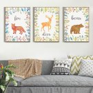 Deer Bear Fox Minimalist Art Canvas Poster Picture Modern Home Wall Decor 32x24
