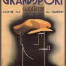 Vintage French Grand Sport Poster Print 32x24