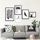 Life Motivational Black White Minimalist Art Canvas Poster Picture 32x24