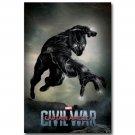 Black Panther Captain America Civil War Superhero Movie Poster 32x24