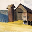 Edward Hopper Barn And Silo Vermont Fine Art Print 32x24