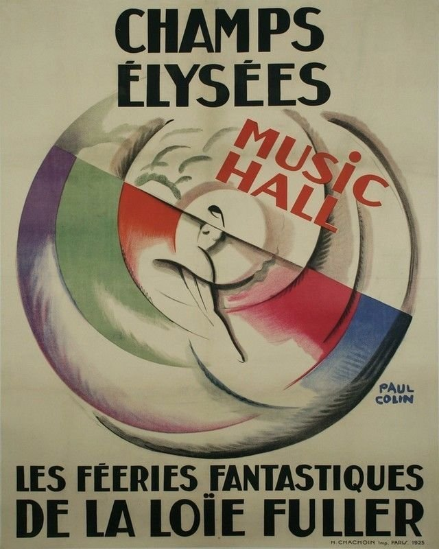 Vintage French Champs Elysees Poster Print 32x24