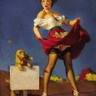 Gil Elvgren PIN UP Girl Art Print 32x24