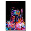 Star Wars 7 Force Awakens Movie Poster Bounty Hunter 32x24
