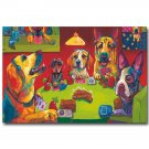 Dogs Playing Poker Funny Art Poster 32x24