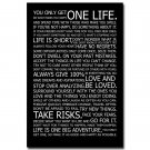 Love Your Life Motivational Quote Poster Wall Decor 32x24