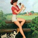 Walt Otto PIN UP Girl Art Print 32x24
