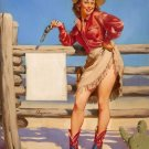 Gil Elvgren PIN UP Girl Art Print 32x24