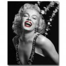 Marilyn Monroe Red Lips Smile Fabric Poster Print 32x24
