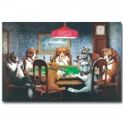 Dogs Playing Poker Fantasy Funny Art Poster 32x24
