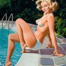 Arthur Sarnoff PIN UP Girl Art Print 32x24