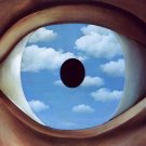 Rene Magritte The False Mirror Fine Art Print 32x24