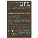This Is Your Life Inspirational Reading Quotes Poster 32x24