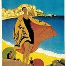 Vintage French Mediteran EAN Travel Poster Print 32x24