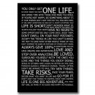 Love Your Life Inspirational Reading Quotes Poster 32x24